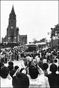 1987 South Koreans protest against military dictatorship 1