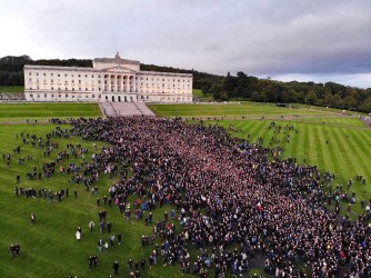 Drone shot Belfast