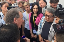 2019 Monitoring Hong Kong elections 241119_Lord Alton and the delegation visiting Jimmy Sham_Hong Kong