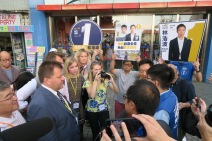 2019 Monitoring Hong Kong elections241119_Viktorija Adomėnienė and the delegation visiting Joshua Wong and other candidates_Hong Kong
