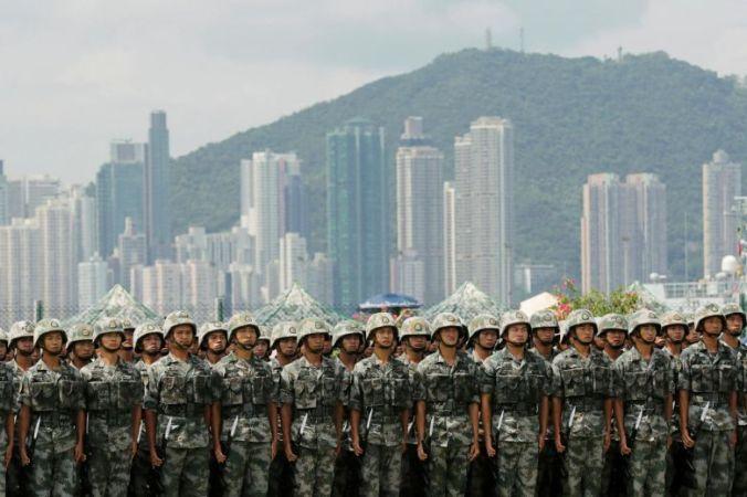hong kong army presence