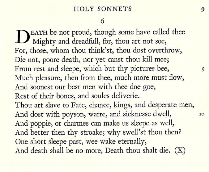 John Donne Sonnet 6