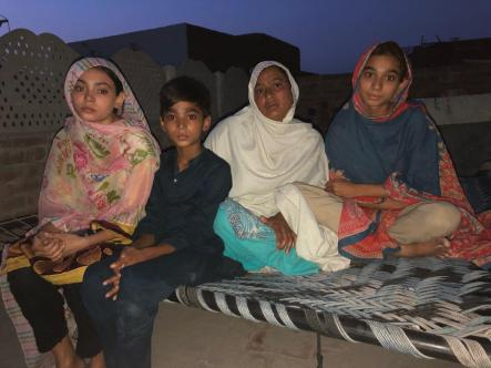 Mother and sibings of Maira Shahbaz